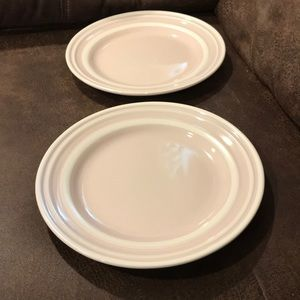 New Kate Spade Sculpted Stripe lunch plates